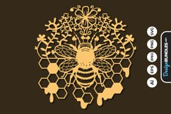Honey Bee Papercut SVG Product Image 1