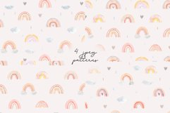 Watercolor Rainbow. Collection Patterns and Cliparts Product Image 3