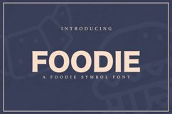 Web Font FOODIE Product Image 1