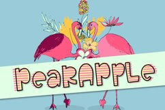 Pearapple - A Bouncy Font Trio With Outline and Stripes Product Image 1