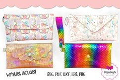 4 Style Pouch Template, Sew or No Sew Clutch, Mask Holder Product Image 2