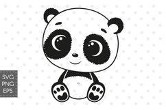 Cute baby panda SVG, PNG, EPS Product Image 1