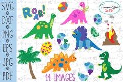 Dinosaur Big Bundle - SVG, DFX Cut Files, PNG, EPS Clipart Product Image 1