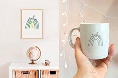 Rainbow SVG, Pastel Baby Rainbow, Line Art, Cut File Product Image 2
