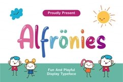 Alfrönies - Fun and Playful Display Typeface Product Image 1