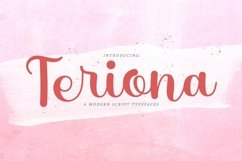 Web Font Teriona Product Image 1