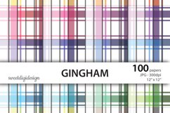 100 colors gingham, plaid seamless digital background Product Image 1