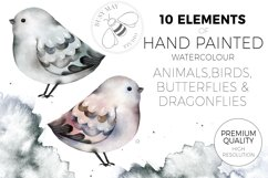 Watercolor Animals Birds Butterflies Nordic Wildlife Bear Product Image 2