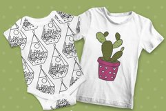 Cactus SVG and Seamless Pattern Product Image 3