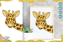 Giraffe face SVG cut file for crafter Product Image 1