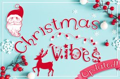 Christmas Font   Christmas Split Monogram Font Product Image 1