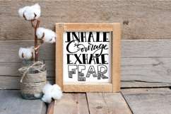 Inhale Courage Exhale Fear SVG Cut File Product Image 5
