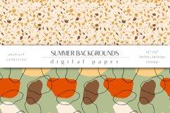 Summer Digital Paper Set - Summer Backgrounds Product Image 4