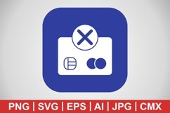 Vector Payment Failure Icon Product Image 1