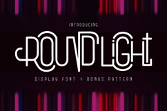 Round Light - Display Font & Pattern Product Image 1