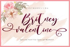 Britney Valentine - WEB FONT Product Image 1