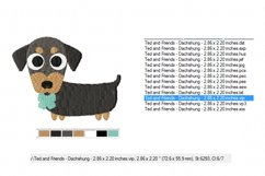 Dachshund Embroidery Designs in 2 sizes Product Image 3
