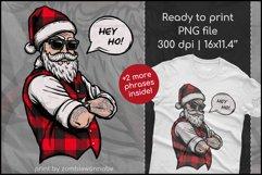 Buffalo Plaid Santa for Sublimation, Christmas Design Product Image 1