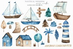 Nautical wedding map creator Watercolor clipart Product Image 4