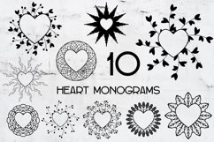 Monograms Vector Hearts Frame bundle SVG, cutting files. Product Image 3