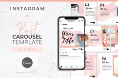 Instagram Post Carousel for Canva | Slideshow | Watercolor Product Image 1