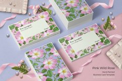 Pink Wild Rose PSD Business Card Template Product Image 6