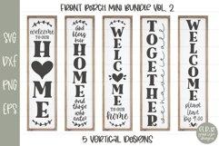 Porch Sign Mini Bundle VOL. 2 - 5 Vertical SVG Designs Product Image 1