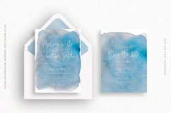 Azure Watercolor Wedding Invitation Suite Product Image 2