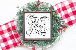 Merry and Bright Christmas SVG Product Image 1
