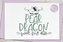 Web Font Pear Dragon.Sweet font duo&extras Product Image 1