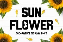 SUNFLOWER Font Product Image 1