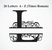 Split Letter Monogram SVG, Split Letter Monogram Product Image 2