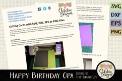 Happy Birthday Opa Card SVG - Birthday Card Cutting File Product Image 4