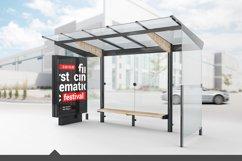 Bus Stop Lightbox Mockup Product Image 1