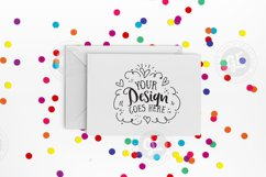Rainbow confetti greeting card mockup with smart objects (landscape) 0030-04 Product Image 1