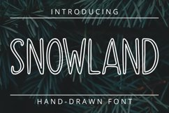 SNOWLAND - hand drawn winter font Product Image 1