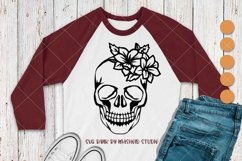 Skull With Flowers SVG Files Product Image 3