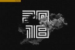 Geometric Maze Font Product Image 5
