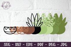 3D Cactus Mandalas, Layered Cactus, Papercut Succulent, DXF Product Image 6