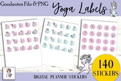 Yoga Labels Digital Printable Labels Stickers Goodnotes Product Image 2
