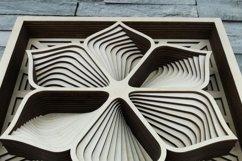 Layered Mandala SVG, Laser cut file Mandala, 3D Flower Product Image 2