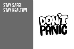 Dont Panic_Graphic ART_PNG & JPEG file Product Image 2