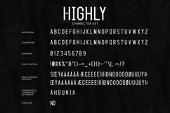 Highly - a Simple Condensed Typeface Product Image 6