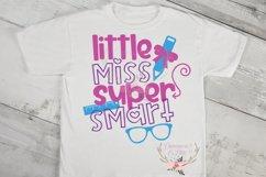 Little Miss Super Smart Back to School SVG Cut File Product Image 2