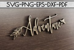 Camping Sign Papercut Templates Bundle, Adventure SVG, DXF Product Image 4