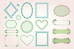 Pack of 100 Floral Frames, vector clipart bundle Product Image 4