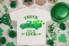 truck svg, clover svg, st patrick's day svg, kids svg, luck Product Image 2