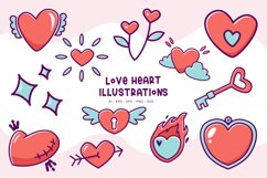 Love Heart illustrations Product Image 1