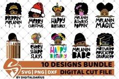 10x Black Woman Designs Bundle svg, Afro, Black History svg Product Image 1
