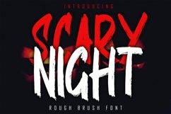 SCARY NIGHT - Rough Brush Font Product Image 1